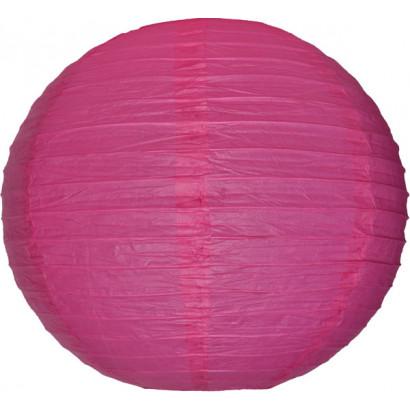 Lampion / boule papier 30cm fuchsia