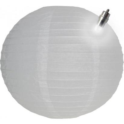 Lampion / boule papier LED 30cm blanc