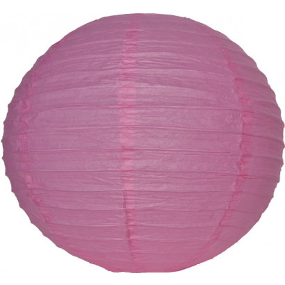 Lampion / boule papier 30cm rose