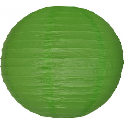 Lampion / boule papier 30cm vert