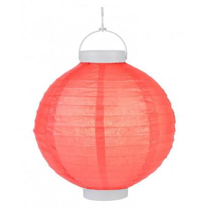 LED Lampion / boule papier 20cm rouge