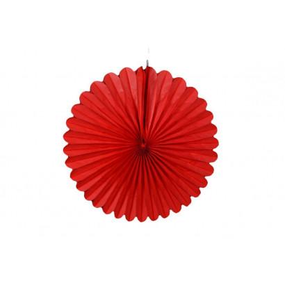 Rosace papier rouge 20 cm