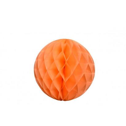 Boule papier alvéolé / honeycomb orange 30cm