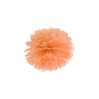 Pompon papier de soie 20cm,  orange clair