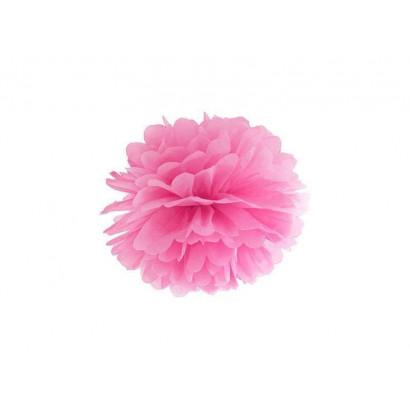 Pompon papier de soie 20cm,  rose