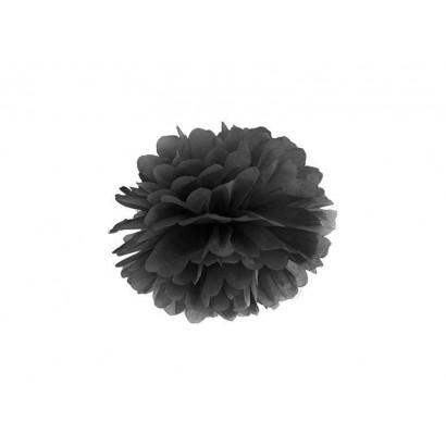 Pompon papier de soie 35cm,  noir