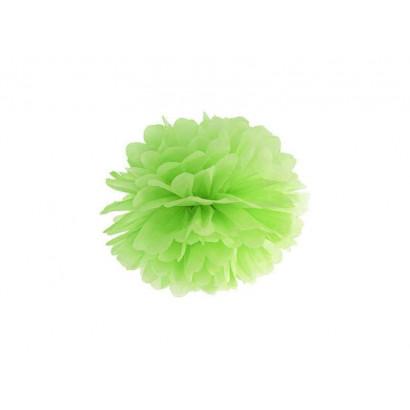 Pompon papier de soie 35cm,  vert