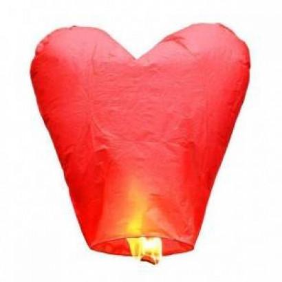Lanterne Volante Rouge Cœur