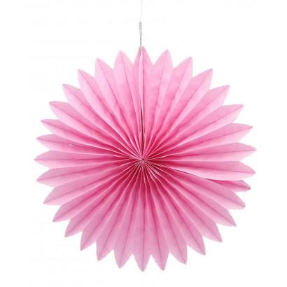 Rosace papier rose 20 cm
