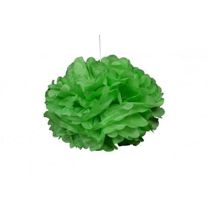 Pompon papier de soie 20cm,  vert