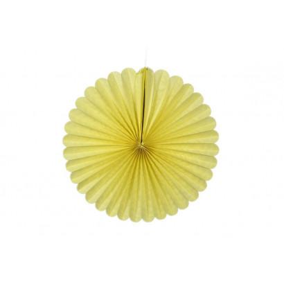 Rosace papier jaune 20 cm