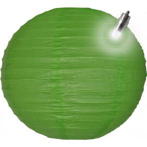 Lampion / boule papier LED 30cm vert