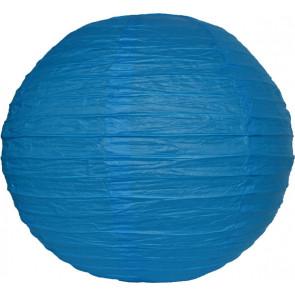 Lampion / boule papier 30cm bleu