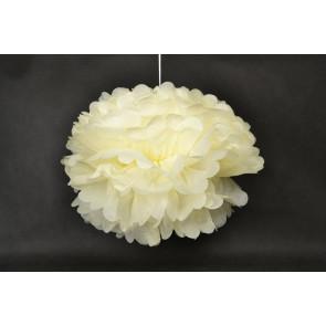 Pompon papier de soie 40cm, beige