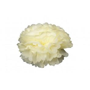 Pompon papier de soie 20cm,  crème