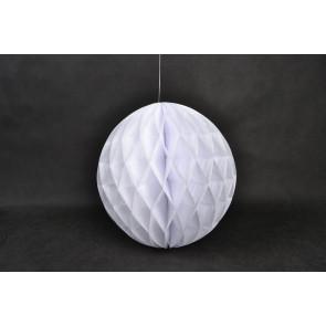 Boule Papier Alvéolée Honeycomb 40cm Blanche