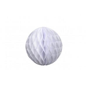 Boule papier alvéolé / honeycomb blanche 20cm
