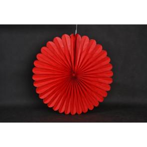 Rosace papier 50cm rouge