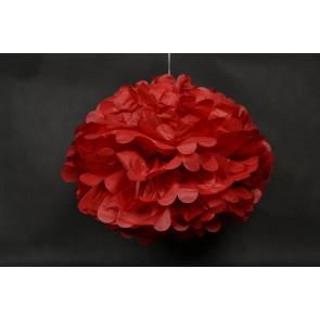 Pompon papier de soie 40cm, rouge