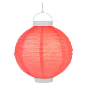 LED Lampion / boule papier 20cm rouge