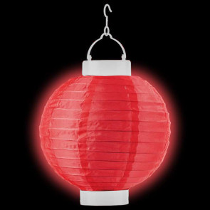 LED Lampion / boule papier 30cm rouge