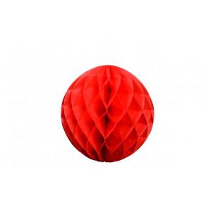 Boule papier alvéolé / honeycomb rouge 20cm