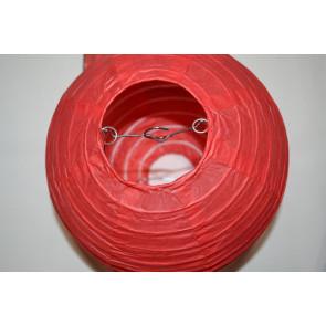 Lampion / boule papier 20cm rouge