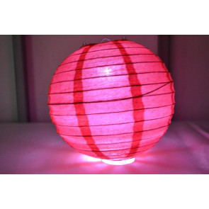 Lampion / boule papier LED 30cm rouge