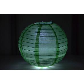 Lampion / boule papier LED 20cm vert