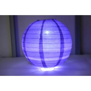 Lampion / boule papier LED 20cm violet