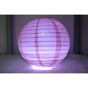 Lampion / boule papier LED 20cm rose