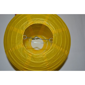 Lampion / boule papier 40cm jaune