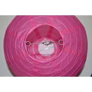 Lampion / boule papier 40cm fuchsia
