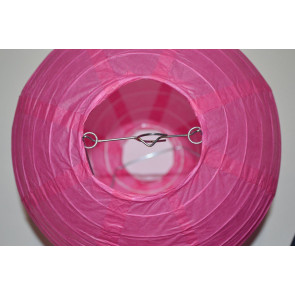 Lampion / boule papier 20cm fuchsia
