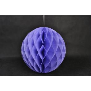 Boule Papier Alvéolée Honeycomb 20cm Violet