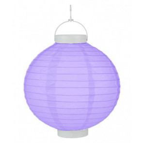 LED Lampion / boule papier 20cm jaune