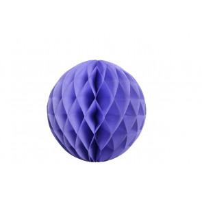 Boule papier alvéolé / honeycomb bleue 20cm