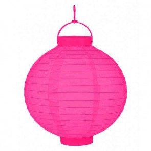 LED Lampion / boule papier 20cm rose