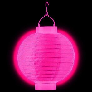LED Lampion / boule papier 30cm fuchsia + AAA batteries gratuitement