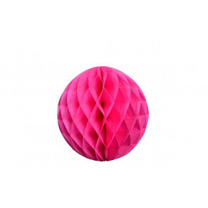 Boule Décorative Honeycomb fuchsia 30cm 1pc