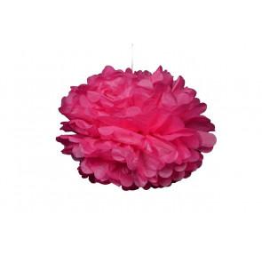 Pompon papier de soie 20cm,  rose clair