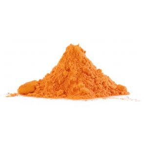 Holi poudre coloré orange