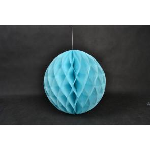 Boule Papier Alvéolée Honeycomb 20cm Bleue