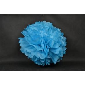 Pompon papier de soie 50cm, bleu