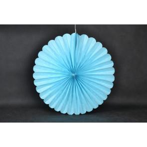Rosace papier 20cm bleu
