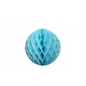 Boule papier alvéolé / honeycomb bleue 30cm