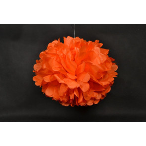 Pompon papier de soie 40cm, orange