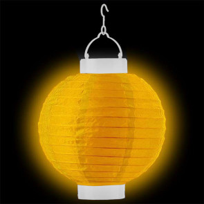 LED Lampion / boule papier 20cm jaune + AAA batteries gratuitement