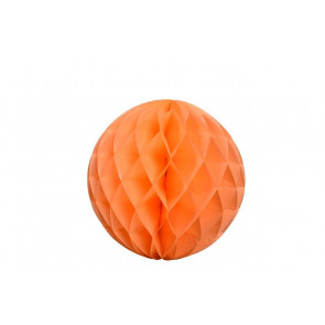 Boule papier alvéolé / honeycomb orange 30cm