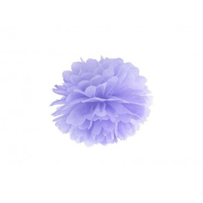 Pompon papier de soie 20cm,  violet clair